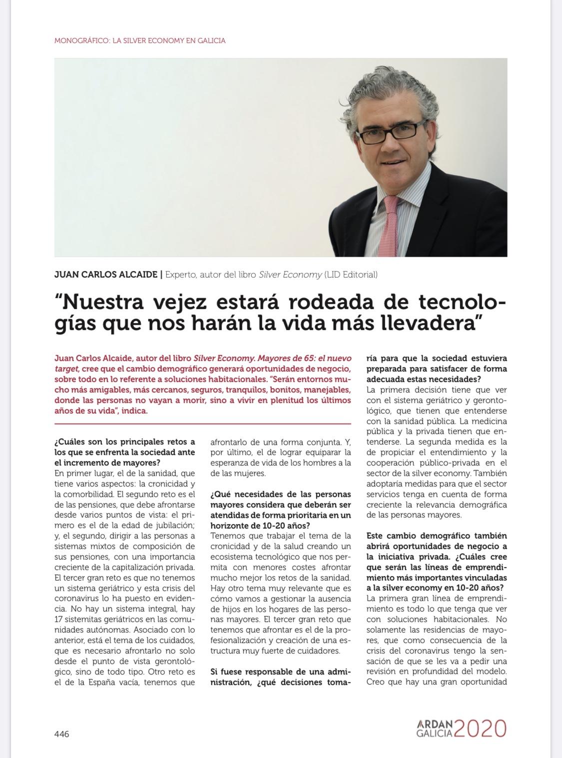 Entrevista JCA Monográfico Silver Economy Galicia